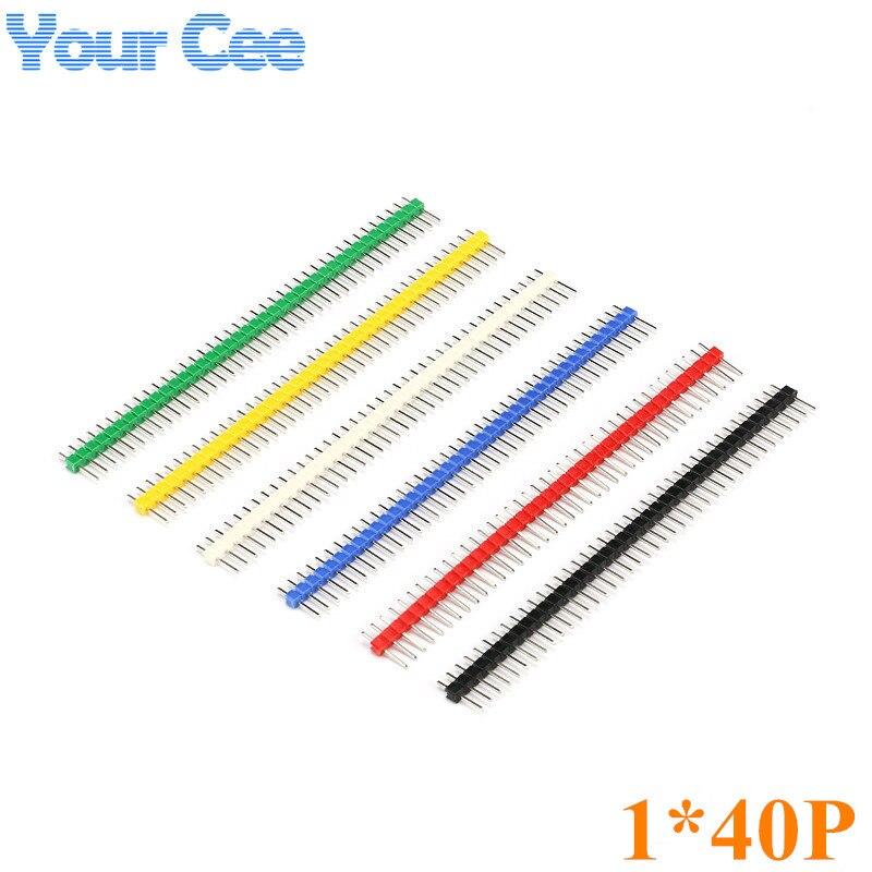 1 компл./6 шт. МУЛЬТИЦВЕТ 1*40 P однорядные Pin иглы расстояние 2.54 мм цвет желтый, синий; размеры 34–43 зеленый Черный, красный, белый цвета штыревой ...