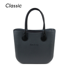 Big size Classic women's bags fashion  obag style AMbag with insert handles O lady EVA Silicon Rubber Waterproof bag  DIY