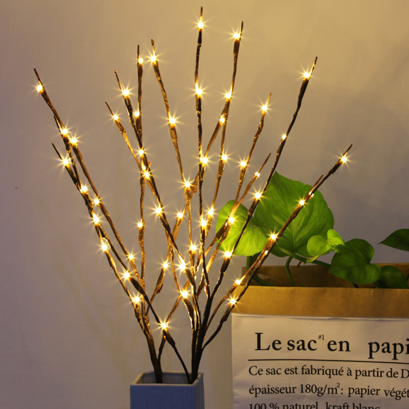 Hot Selling Led Willow Tree Branch Lamp Christmas Floral Light 20