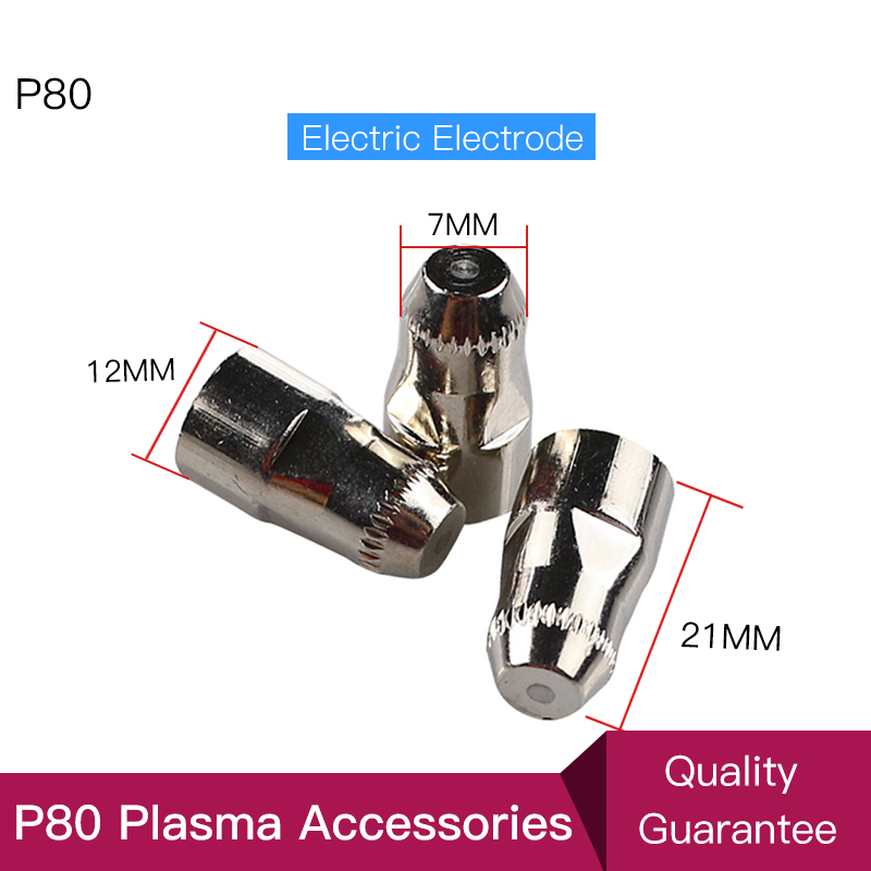 P80 Inverte Plasma Cutter Cutting Gun Plasma Consumable Cutting Torch Accessories Nozzle tips Electrode CNC 100PK