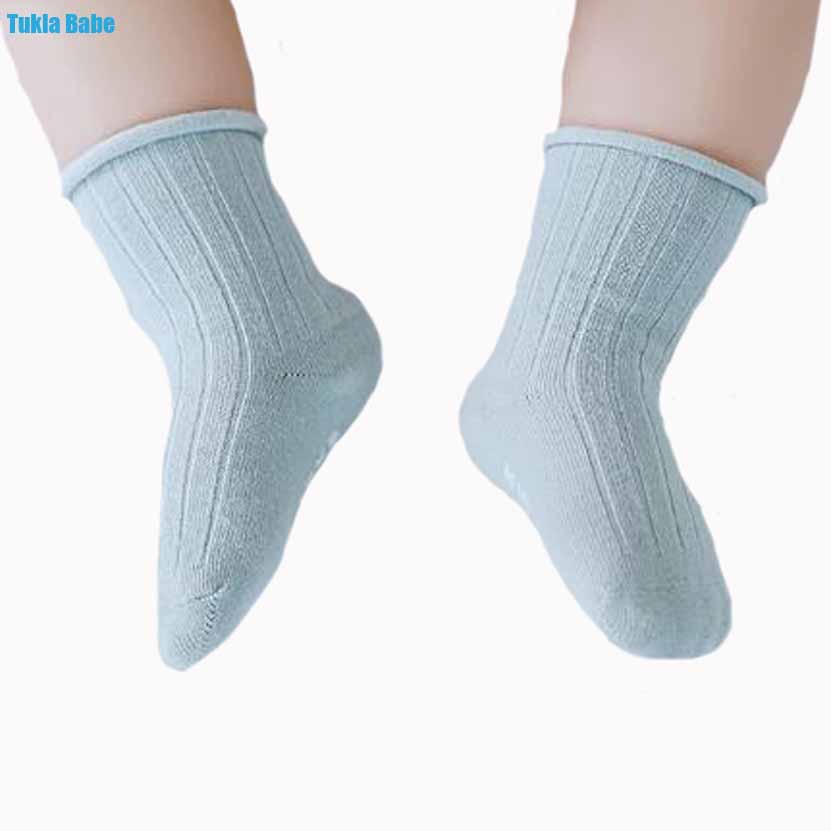 b9a84deb850 3Pairs New spring and summer double needles loose mouth baby socks  dispensing non-slip tube