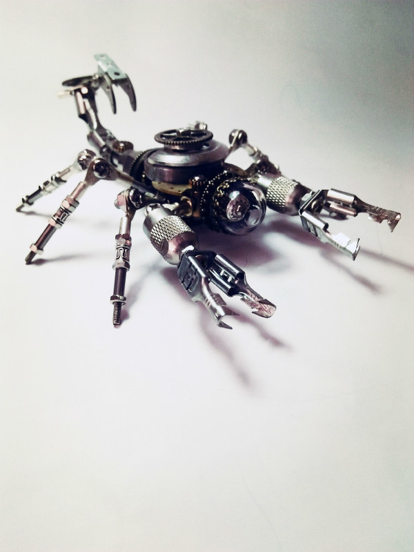 New Steampunk Assembly Metal 3d Model Kit Steel Scorpion Robot Modelling DIY Toys Hobby Tools Creative Gift