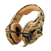 ONIKUMA K1 Camouflage PS4 Headset Bass Gaming Headphone Game Earphone Casque with Mic for PC Mobile Phone Xbox One Tablet K1b