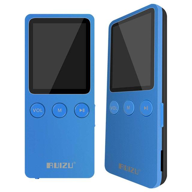 "1.8"" RUIZU MP4 Player Ultrathin 8GB TF Card Hifi Lossless music play times 200 hours With FM Radio + Recorder + E-Book + Game"