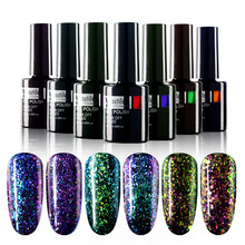 1ks Beautilux Značka Galaxy Chameleon Flakes Color Gel Nail Polish Nail Art 10ml