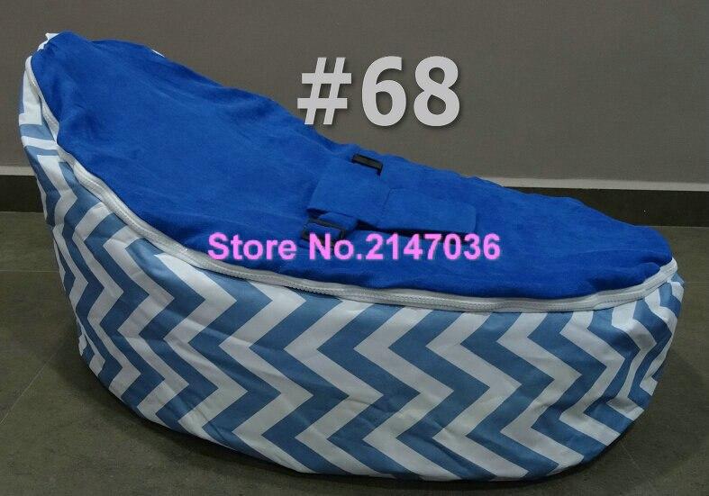 Race Car Baby Bean Bag Chair Blue Chevron Kids Harness Beanbag