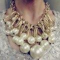 Горячие Продажи Choker Ожерелье Многослойные Большой Имитация Жемчужное Ожерелье Женщин Заявление Ожерелья и Кулоны