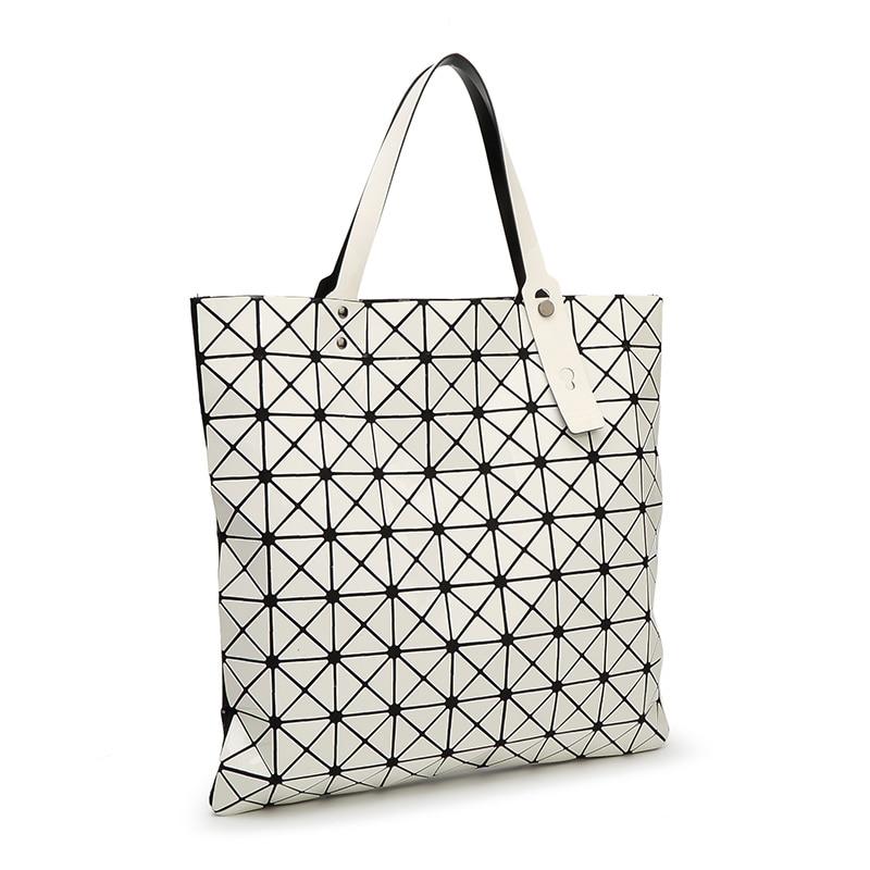 bao bao issey femmes miyake Geometric square Top-handle bags women hand shoulder bag design Casual extra large designer Tote bag