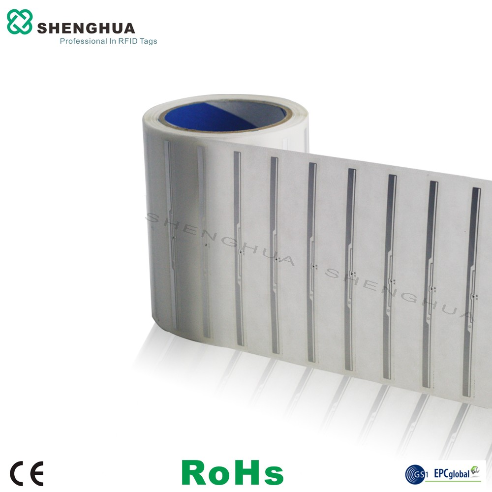 10PCS SH-I0201 129*9MM Best Price ISO Standard UHF LIBRARY TAG LABELRFID Passive Library Tag For Access Control