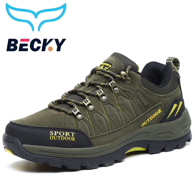 High Quality Hiking Shoes Men Outdoor Sport Trekking Mountain excursion Climbing Athletic sneakers Shoes waterproof plus size 47