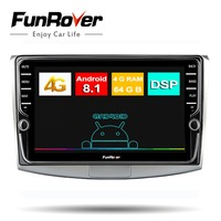 Funrover 9andriod 8.1 8 core car radio multimedia for Passat B6 B7 CC Magotan 2011 2015 2 din car dvd gps navigation stereo DSP