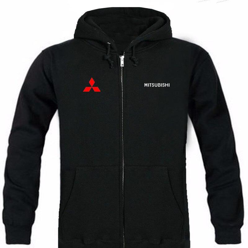 Autumn Mitsubishi logo brand male long sleeve solid hoodie zipper sweatshirts hoodie