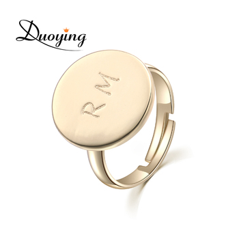 DUOYING Gold Custom Ring Engraving Name Personalized Ring Handmade Adjustable Jewelry Lord Ring For Friend Initial Ring for Etsy Переносные часы