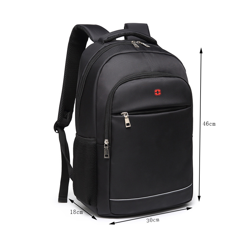 Image 2 - Charging USB teens School Bags for Teenage Boys Backpack men nylon black solid High Quality student SchoolBag Preppy Style 2019-in School Bags from Luggage & Bags