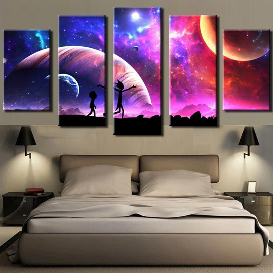 Canvas Pictures Home Wall Art Framework Decor 5 Pieces