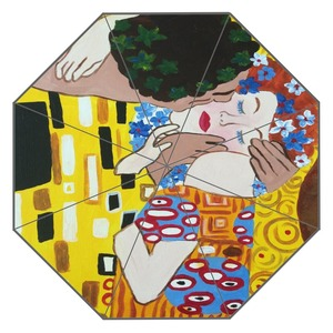 Image 5 - חדש מותאם אישית הנשיקה גוסטב קלימט יצירות אמנות מטריית שמש קרם הגנה אנטי Uv מטריית # QAZ098K