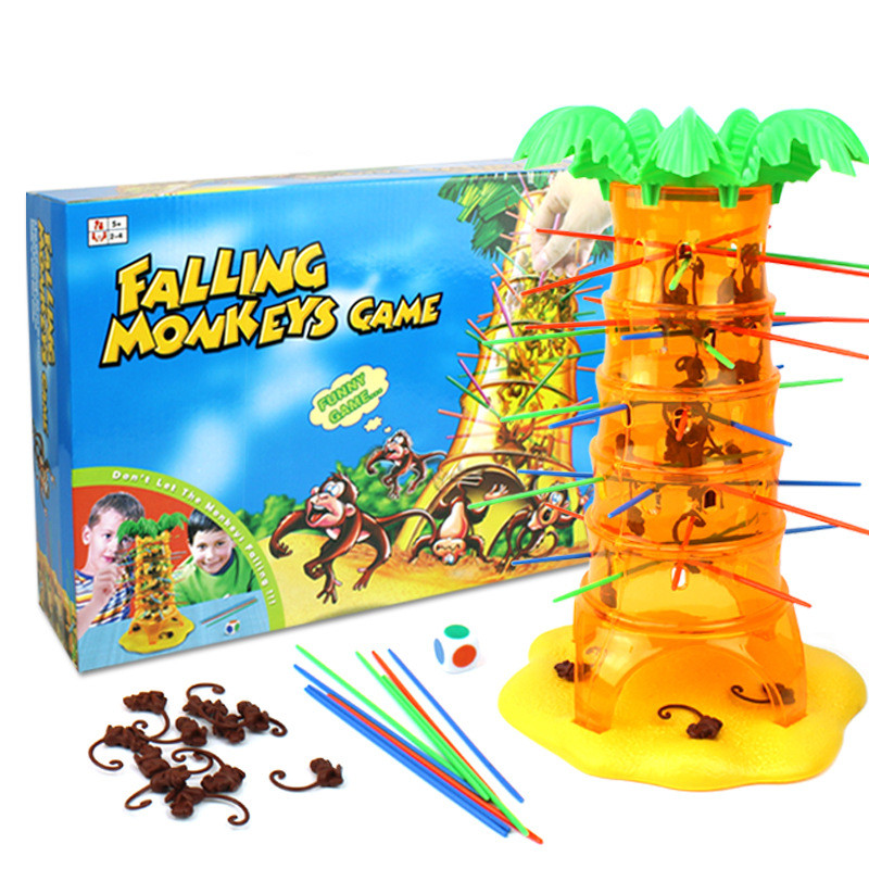 family parent child game diy falling tumbling monkeys