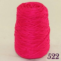 1X400g Soft Sell High Quality 100 Cotton Hand Woven Yarn Raspberry Cone 422 521