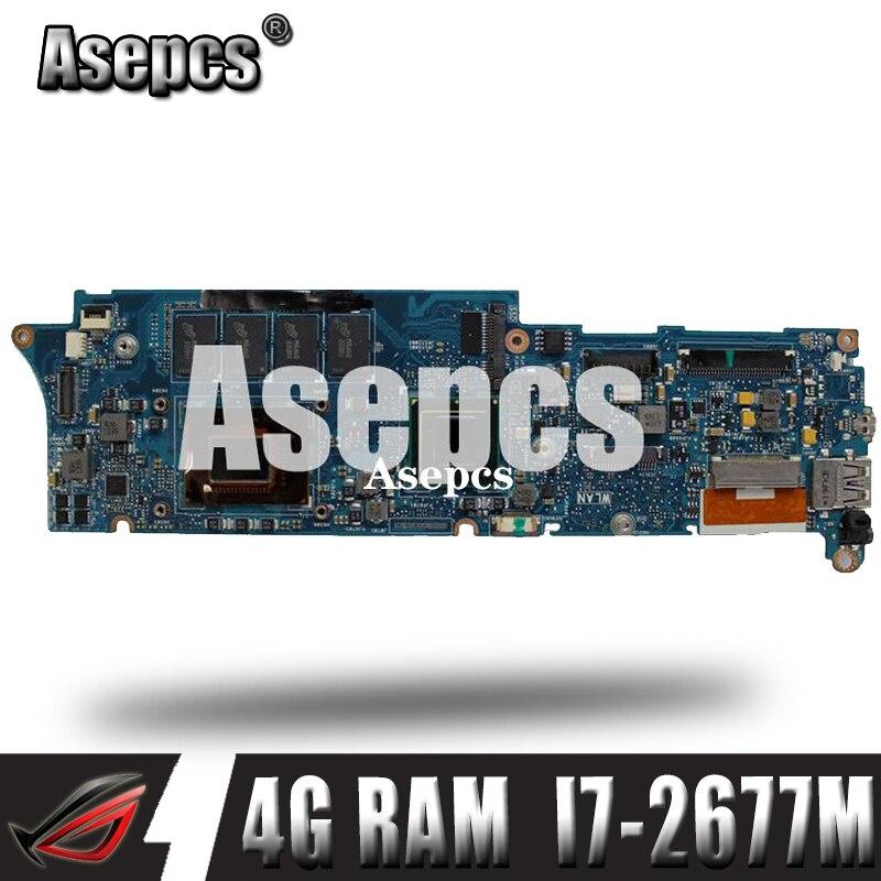 Asepcs UX21E Laptop Motherboard For ASUS UX21E UX21 Test Original Mainboard 4G RAM I7-2677M
