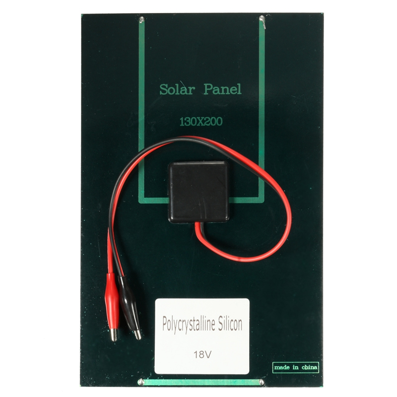 CLAITE 4.2W 18V Portable PolyCrystalline Solar Panel Solar Battery Charger With Alligator Clip For Car Automobile Boat