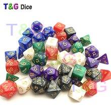 7Pcs/Set Resin Polyhedral TRPG Games For Dungeons Dragons