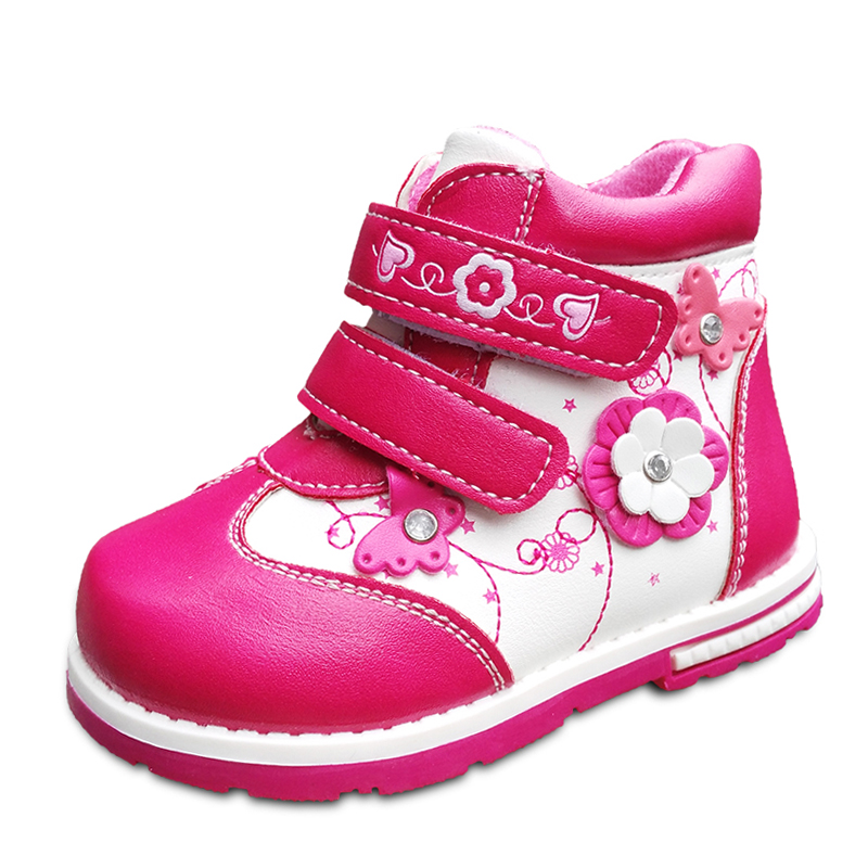 NEW-Autumn-1pair-Flower-Ankle-Leather-Fashion-Children-Boot-Kids-PU-Leather-Baby-Girl-Shoes-3