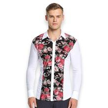 long sleeves men latin dance shirt ballroom shirt adult dance top male dance wear