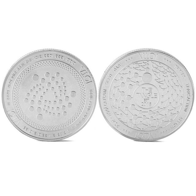 2018 New Arrival IOTA virtual digital currency Bitcoin embossed three-dimensional commemorative coin Dropshipping 1