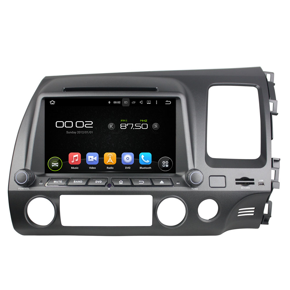 Android 8.0 octa core 4GB RAM car dvd player for HONDA CIVIC 2006-2011 RHD ips touch screen head units tape recorder radio