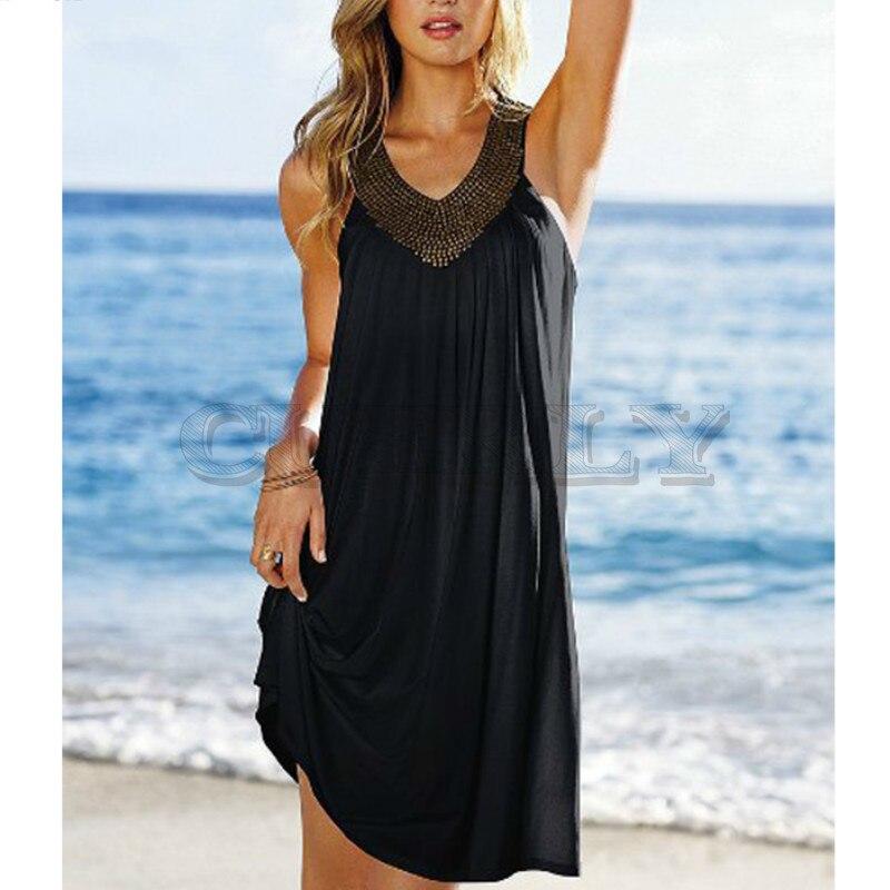 Sexy robes de soirée femmes soirée bal Club robe évider dos nu robe d'été 2019 curement décontracté robe de plage grande taille Boho