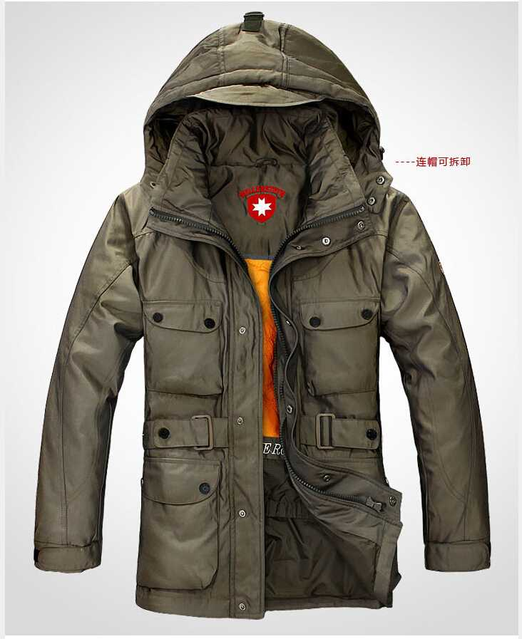 German Military Outdoor Winter Jacket Men Down-Jacket Long Thicken White Duck Coat Wellensteyn Parka Man M-XXXL - Du Longfei Store store