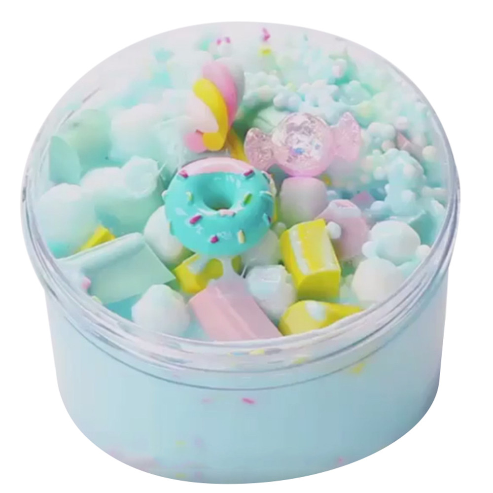 60ml Ice Cream Beautiful Color Mixing Cloud Slime Putty Scented Stress Kids Clay Toy Drop Shipping  De26