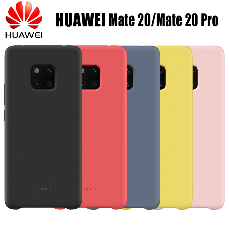 new arrival 6d345 c2746 Huawei Mate 20 Pro Original Case Offical liiquid Silicone Soft Protection  Back Cover Huawei Mate 20 Case Mate20 Silicone Cover