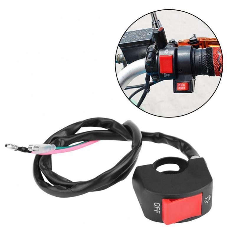 Interruptor de manillar de motocicleta 22mm 7//8inch Qiilu Manillar Faro Faros antiniebla Interruptor de encendido//apagado con luz indicadora para moto scooter Boton de encendido//apagado