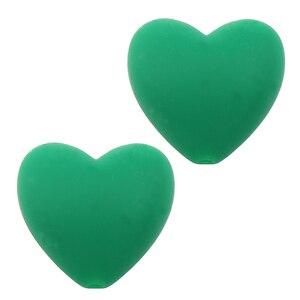 Image 5 - 100 pcs/lot perles de dents en Silicone en forme de coeur de qualité alimentaire bricolage perles de dentition en silicone sans bpa pour Bracelets de bébé bébés à mâcher