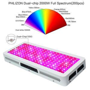 Image 4 - Phlizon ışık büyümeye yol açtı 2000 w bitki yetiştirme lambası bahçe bitkileri led kültür kapalı tam spektrum çiçek ışık kırmızı mavi 220 v