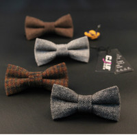 21colors men bow tie British style classic butterfly wedding groom korean fashion designer wool bowtie business solid 30pcs/lot