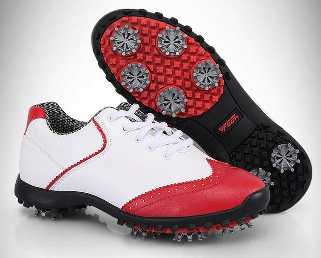 2018 ladies golf shoes microfiber leather sneakers women waterproof  removable spikes PGM golf women golf shoes 8c309296419