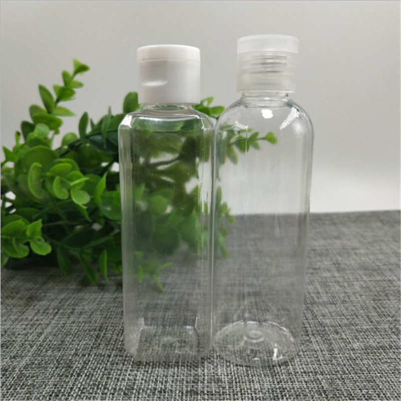 100ml Empty  Makeup Refillable Bottle Transparent Small Simple Bottles  Liquid Cosmetic Containers  Clear Flip Top Cap Jar