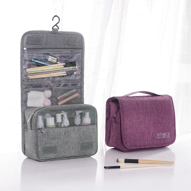 Neceser de Viaje para Colgar art/ículos de tocador Impermeable Bolsa de Maquillaje Organizador de cosm/éticos Plegable para Hombres y Mujeres