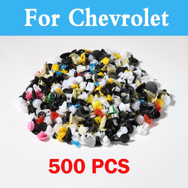 500 pcs Mixte Auto Pare-chocs Clips Fixation Rivet Porte Pour Chevrolet Hhr Impala Kalos Epica Equinox Evanda Lacetti Corvette Cruze