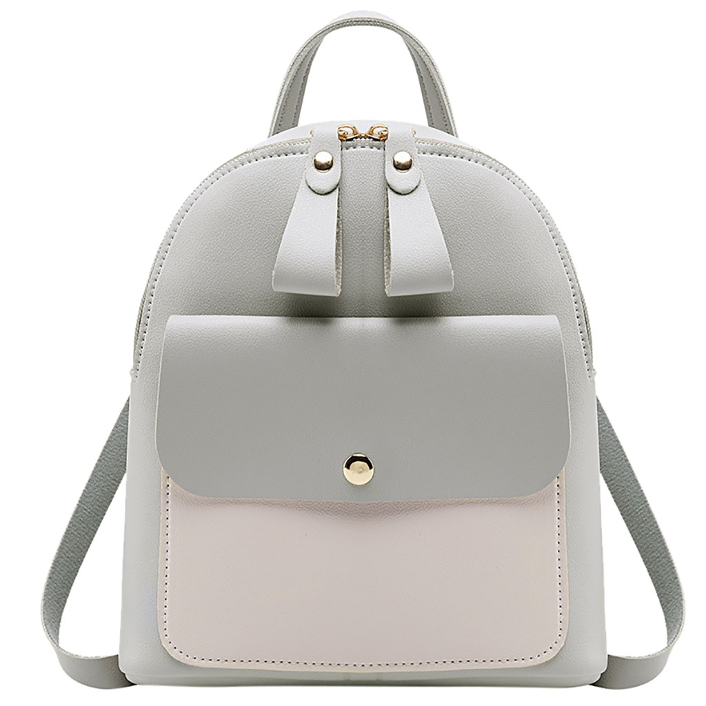 Backpack Small-Bag Teenage Girls Women for -P Panelled Cute