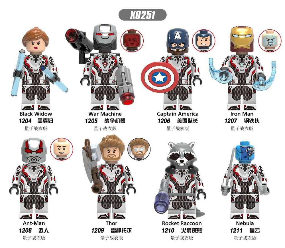 X0251 Avengesing New Quantum Warfare War Machine Tkids Toy Compatible Legoing Captain America Nebula Iron Ant Man Building Modul