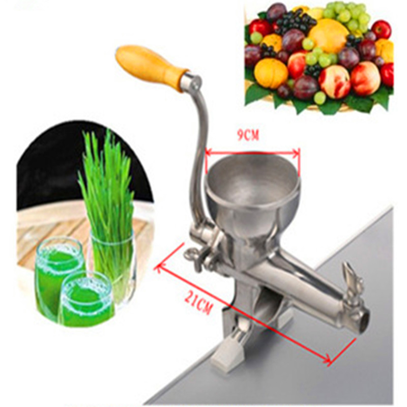 Wheatgrass juicer stainless steel manual home use wheat grass slow juicer fruit vegetable juice extractor   ZF wheat grass juicer stainless steel manual home use vegetable orange juicing machine juice extractor