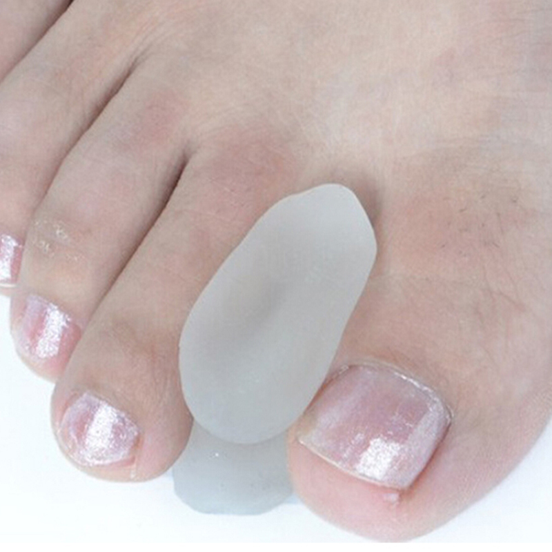2Pcs Silicone Foot Finger Toe Separator Adjuster Hallux Valgus Pedicure Corrector Feet Care Bunion Bone Thumb Valgus Protector