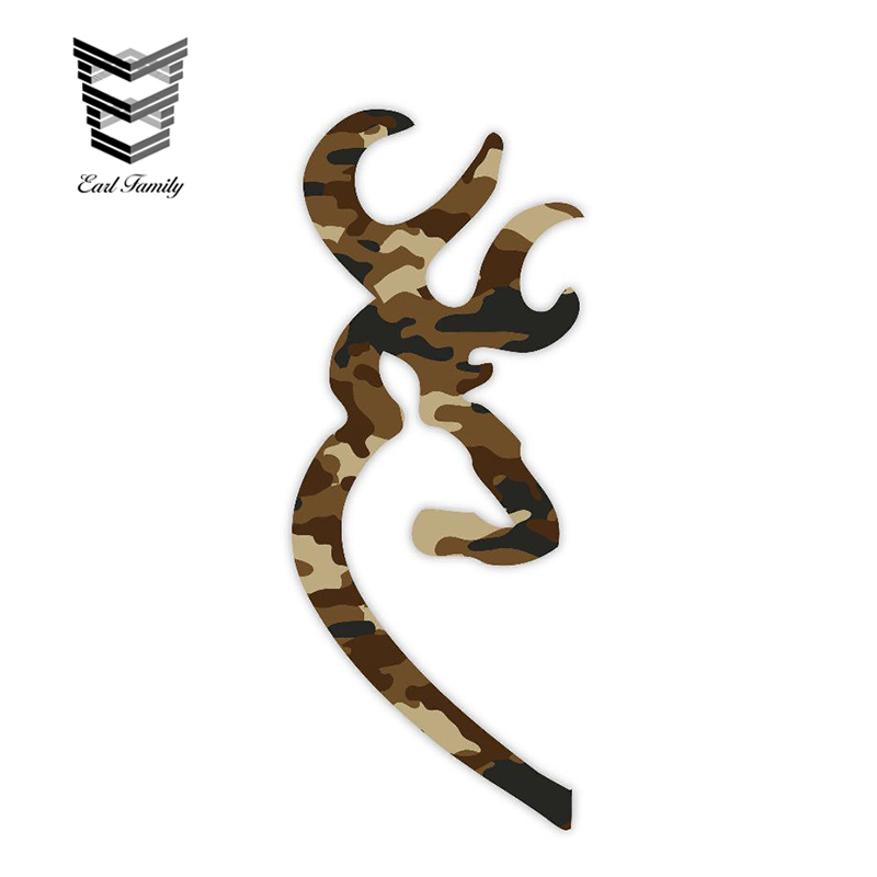 Browning Style Pink Camo Buck Camouflage Hunting Sticker Decal
