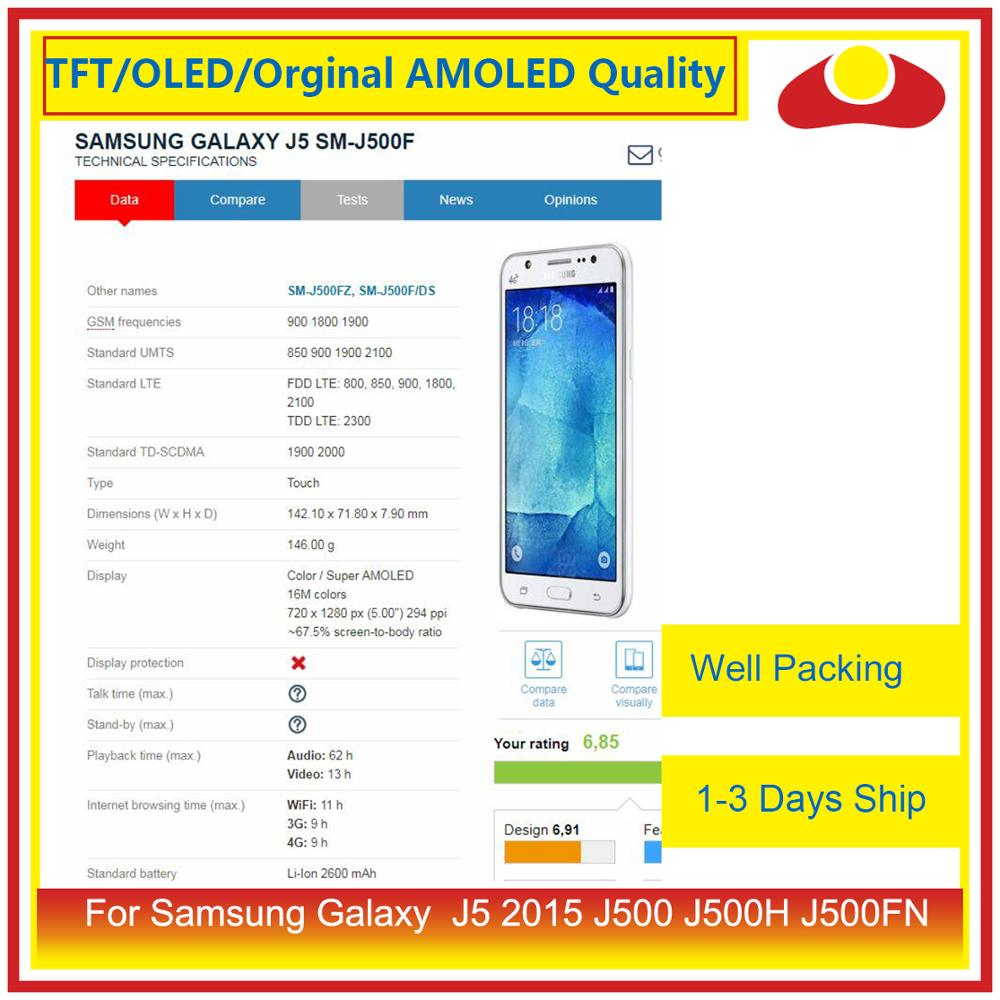"Image 4 - ORIGINAL 5.0"" For Samsung Galaxy J5 2015 J500 J500H J500FN J500F LCD Display With Touch Screen Digitizer Panel Pantalla Complete-in Mobile Phone LCD Screens from Cellphones & Telecommunications"