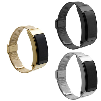18mm Stainless Steel Watchband Strap For Huawei B5 Smart Wristband 3 Colors Waterproof and Sweat-proof Bracelet Watch Belt Bands