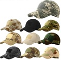 Outdoor Men Camouflage Caps Hook And Loop Tactical Baseball Cap Sports Combat Sun Visors CP Multicam Acu Black 10pcs