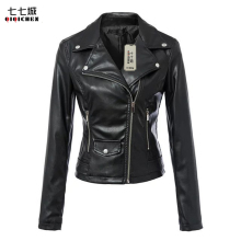 Faux Leather Jacket Women Moto Biker Zip Coats Chaqueta Blazer PU Jack Jaqueta Couro Rock cuir Femme Casaco 2017